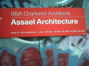 Assael Architects sign