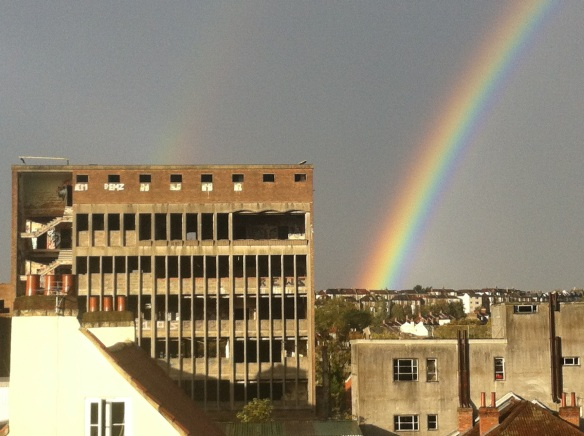 Rainbow over the Westmoreland House, Bristol