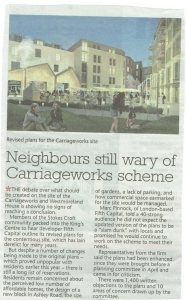 Neighbours still wary of Carriageworks scheme