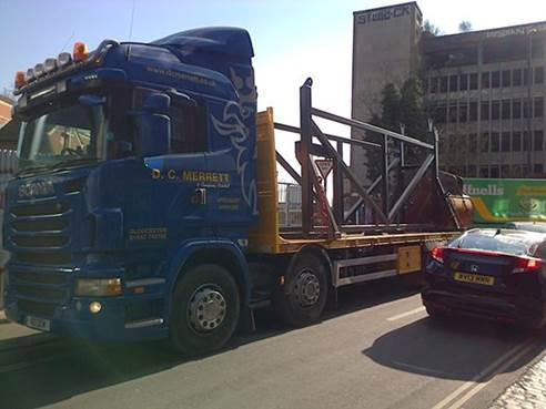 Heavy demolition equipment delivered
