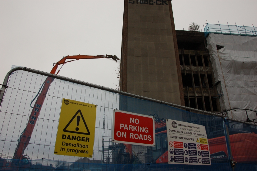 Demolition of Westmorland House begins