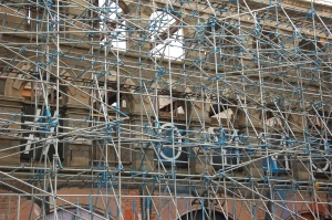 Carriageworks scaffolding on Stokes Croft