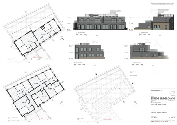 proposed plans and elevations of additional flats
