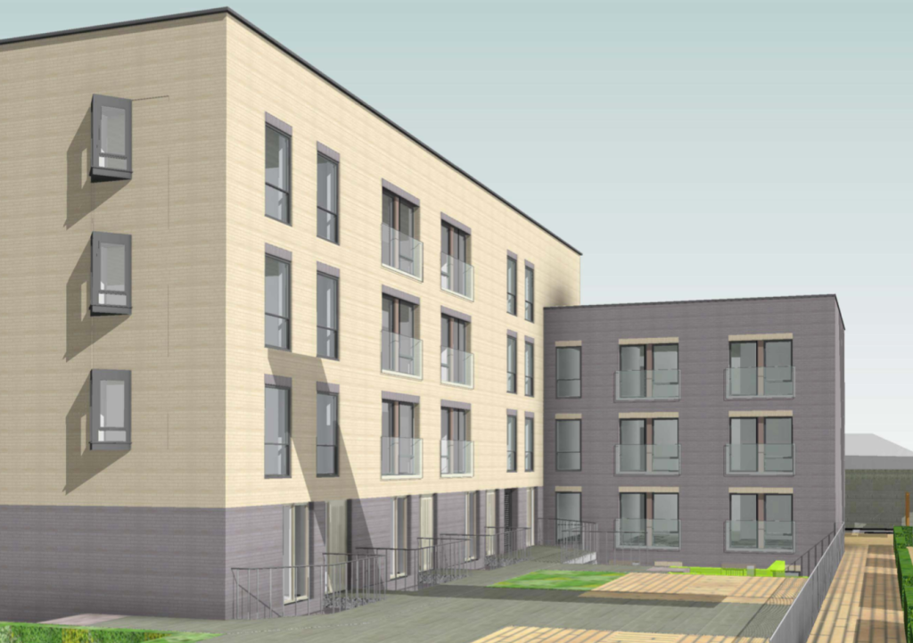 CGI view of the proposed building